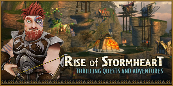 Rise of Stormheart Quests and Adventures Banner