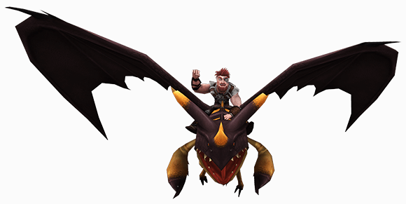 Dagur and Sleuther flying - HTTYD