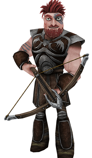 Dagur with bow - School of Dragons