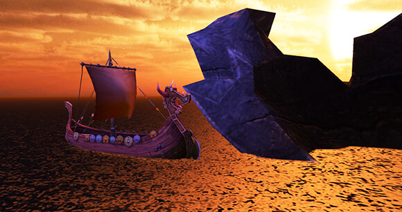 Eruptodon Island - Viking Boat
