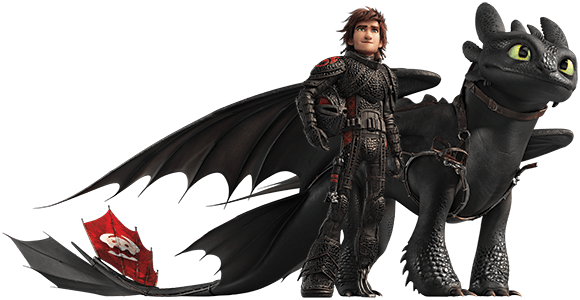 Hiccup and Toothless - Viking and Dragon