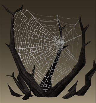 Scary Dreadfall Spider Web - School of Dragons Online