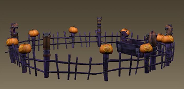 Dreadfall Pumpkin Fence - School of Dragons