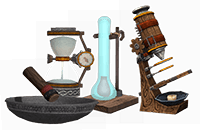 Science lab apparatus - School of Dragons