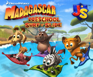 Madagascar Preschool Surf n' Slide - Fun Preschool Mobile App